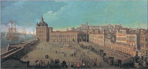 Лиссабон накануне землетрясения  в 1693 году в день прибытия папского посла